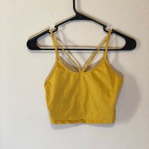 Forever 21 yellow sleeveless crop top
